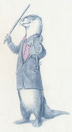 it's funny because Benedict is the otter, and RDJ is sherlock too and he plays the violin :P