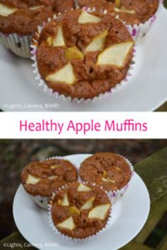 Which is why today I bring you Healthy Apple Muffins. Grain free, dairy free, refined sugar free and Paleo. Through eating these you would never know! Muffin Recipes, Baking Recipes, Dessert Recipes, Desserts, Breakfast Recipes, Dairy Free Recipes, Gluten Free, Apple Muffins, Healthy Muffins