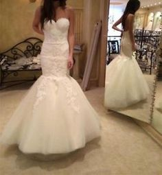 New-Lace-Applique-Mermaid-Sweetheart-Wedding-Dresses-Formal-Bridal-Gowns-Custom