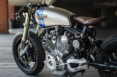 Cool, but with that seat, good luck on long rides.  Yamaha Virago XV750