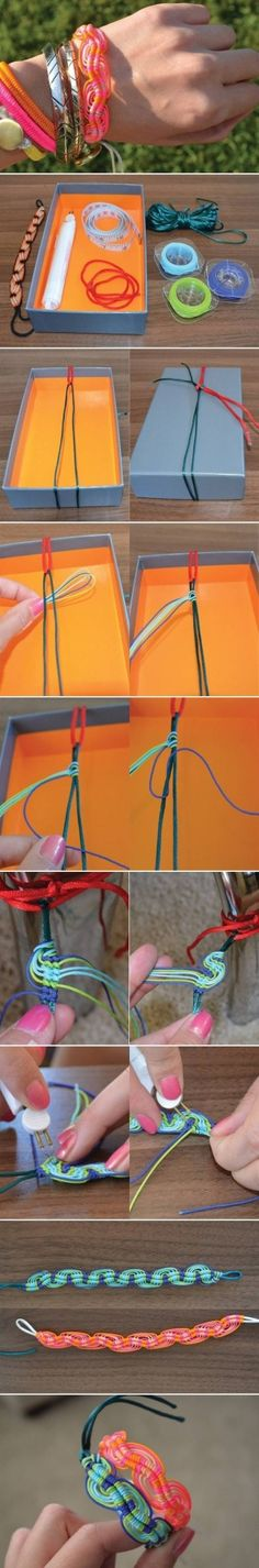 diyforeverによるDIYの編みブレスレット、DIYの編みこみブレスレット