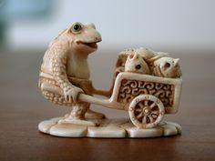 fishmonger frog netsuke #collectible