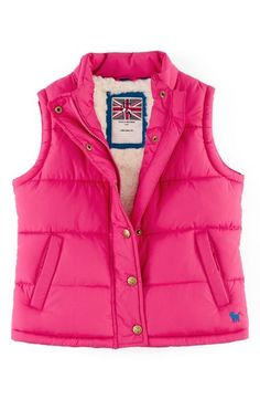 Mini Boden Quilted Vest (Toddler Girls, Little Girls & Big Girls) available at #Nordstrom