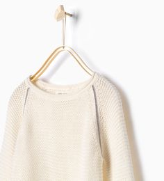 Image 1 of Sweater with shiny seams from Zara