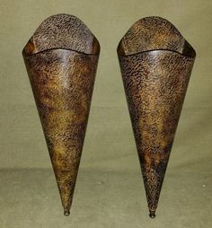 "Metal Wall Vase ideas for making my ""masks worndoctors during the plague. the"