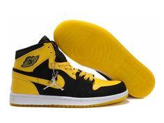 F4T6J079 authentique Nike Air Jordan 1 Retro jaune brillant Chaussures Hommes, nike air jordan retro 1 pas cher
