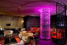 Living Room bar at the W Foshay -- 821 Marquette Ave S, Minneapolis. 4 blocks away.