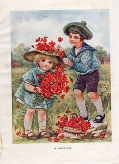 Framable book page In Poppyland, Florence Hardy, Father Tuck's Annual   Collectibles, Postcards, Artist Signed   eBay!