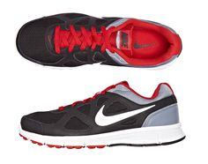looks good on and off the court -- black nike running shoe