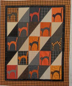Log Cabin Quilter: 13 LUCKY CATS - Love this pattern!  I have the book this is in - need to make it!!!
