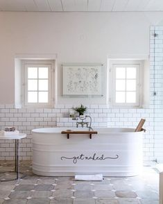 Get Naked decal, perfect for your tub, shower door or bathroom mirror! Large size measures approximately 32x 5.7 Small size measures approximately 18 x 3.2 Made with high quality indoor / outdoor vinyl. Decals are removable but not reusable. Decals adhere best to smooth, flat surfaces. (Tubs,