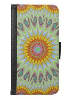 Sun mandala wallet phone case for samsung galaxy s6 $29.80