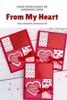 From My Heart Suite, Heartfelt stamp set by Stampi - San Valentin Regalos Caja - Valentines Day Valentines Day Cards Handmade, Cards For Friends, Heart Cards, Card Sketches, Folded Cards, Anniversary Cards, Homemade Cards, Stampin Up Cards, Holiday Cards