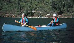 Canoeing, Mt. Shasta, California, USA