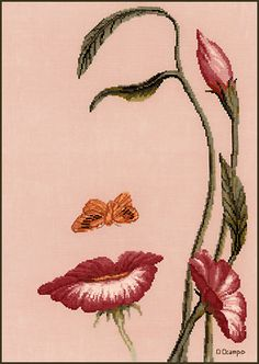 Mouth of the Flower ..the art Octavio Ocampo by The Stitching Studio