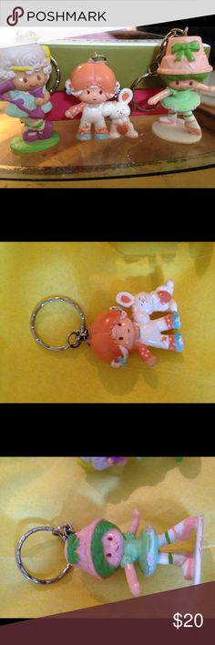 Vintage Strawberry Shortcake Key Chains mini Adorable for the 80s lovers among us. Kenner Other