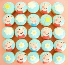 Peppa cupcakes