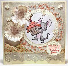 Wünsch Dir was Geburtstagskarte mit dem süßen Henry von Whiff of Joy, Blumen aus dem Set Flower Shop von Stampin' Up! und in den Farben vanille pur und calypso.