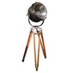Nautical Searchlight on Tripod Stand at 1stdibs