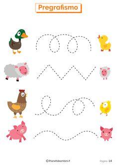 Schede di Pregrafismo per la Scuola dell'Infanzia   PianetaBambini.it Summer Preschool Activities, Kids Activities At Home, Infant Activities, Preschool Crafts, Letter Worksheets For Preschool, Preschool Writing, Preschool Learning, Community Helpers Preschool, Toddler Learning