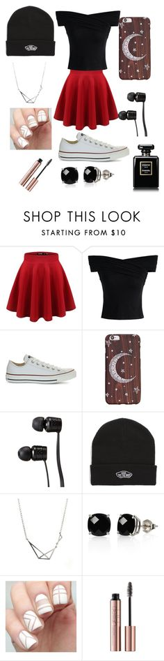 """I'd  rather be at home watching AHS"" by winchester-ashton ❤ liked on Polyvore featuring Chicwish, Converse, Vans and Belk & Co."