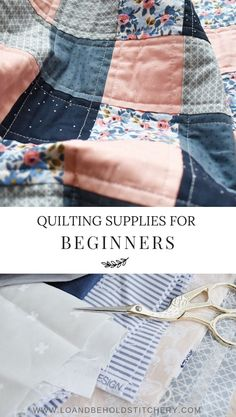 Quilting Supplies for Beginners Want to learn how to quilt, but have no clue where to start? I've compiled a list of my favorite quilting supplies that you'll need to get started. This list is perfect for beginners and experienced quilters alike! Quilting Tools, Quilting Tutorials, Sewing Tutorials, Sewing Patterns, Beginner Quilting, Quilting Ideas, Hand Quilting Patterns, Beginner Quilt Patterns, Quilting By Hand