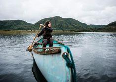 The little blue canoe.  @filson1897   #filsonlife #alaska