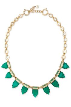 Give any outfit an easy pop of color! Eye Candy Necklace in Emerald   $49   Stella & Dot   www.stelladot.com/sites/sylviacuff #stelladotbysylvia