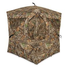 Mossy Oak Coated Ground Blind Bow Holder Target Practice 360 Rotation New
