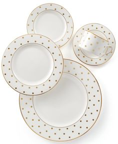 Fine China Dinnerware, Classic Dinnerware, China Patterns, Place Settings, Fine Dining, Dinner Plates, Bone China, Decorative Plates, Kate Spade
