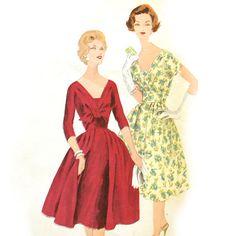 Vintage 50s Surplice Dress Pattern Bust 36 Vogue 4011 Special Design (sold)