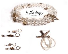 """""""In the deeps"""" collection.  Bronze, perls, and silver"""