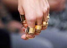 Balenciaga multi finger gold rings