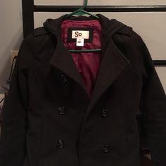 Black winter coat Good condition. SO Jackets & Coats Pea Coats