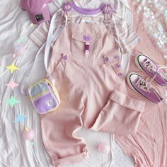 Harajuku Fashion, Kawaii Fashion, Cute Fashion, Girl Fashion, Fashion Outfits, Outfits Kawaii, Kawaii Clothes, Cute Outfits, Pink Suspenders