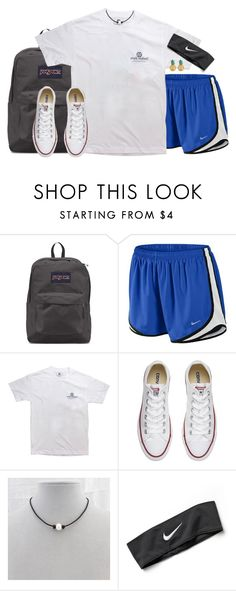 """""""Pineapple earrings"""" by aweaver-2 on Polyvore featuring JanSport, NIKE, Converse and MBLife.com"""