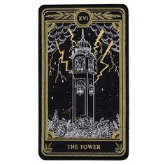 Goth Wallpaper, Scenery Wallpaper, The Tower Tarot Card, Gold Playing Cards, Tarot Card Tattoo, Tarot Major Arcana, Magic Circle, Back Patch, Tarot Decks