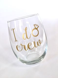 A personal favorite from my Etsy shop https://www.etsy.com/listing/470674422/i-do-crew-will-you-be-my-bridesmaid