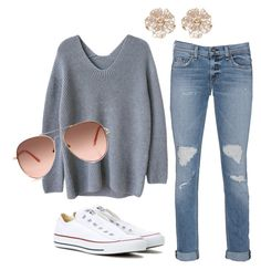 Untitled #3 by aml9911 on Polyvore featuring polyvore fashion style rag & bone Converse River Island clothing
