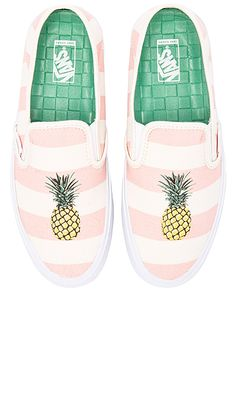 Vans Slip On SF Sneaker in Pale Pink & Pineapple | REVOLVE
