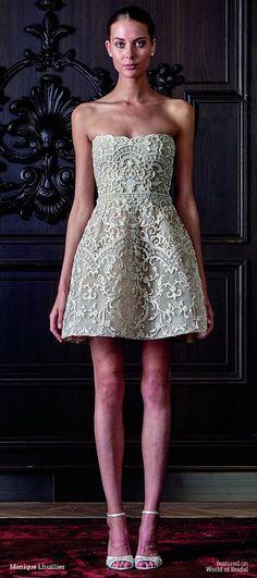Monique Lhuillier Spring 2016 Wedding Dress