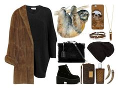 """""""Spirit Animals (Sloth)"""" by ubiquitous-merkaba ❤ liked on Polyvore featuring American Vintage, Mark Cross, MICHAEL Michael Kors, The Merchant Of Venice, Casetify, Sif Jakobs Jewellery and sososspirits"""