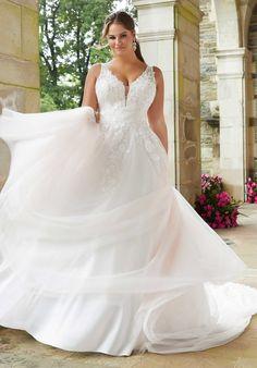 Plus Size Wedding Dresses: Julietta Collection | Morilee Plus Size Wedding Gowns, Bridal Wedding Dresses, Wedding Dress Styles, Dream Wedding Dresses, Curvy Bride, Bridal Boutique, Celebrity Weddings, Dream Dress, One Shoulder Wedding Dress