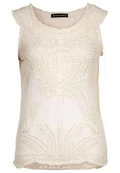 embroidered tulle top...