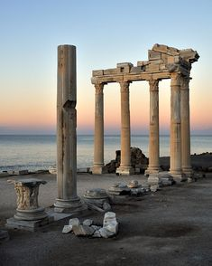 The ruins of the Temple of Apollo at Side, Antalya, Turkey.  Photo by Saffron Blaze