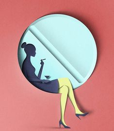 Estonia-based graphic designer, illustrator Eiko Ojala uses art of paper cutting as inspiration for these clever 3D digital drawings