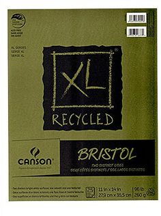 This item is sold by cases of: items.Canson XL Recycled Bristol Pads- Size: 14 in. x 17 in.- Unit: pad of 25 sheets- Binding: fold-overDesigned to appeal to Construction Paper, Bristol, Brand Names, Recycling, How To Make, Things To Sell, Design, Drawing, Products