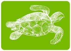 Hendersonville Lime Turtle Kitchen Mat