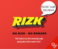 Real rewards and absolutely no BS. Read our full Rizk Casino review.  #Casino #CasinoReview #Review #Rewards
