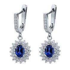 6.48 Ct Oval Blue Created Sapphire 925 Sterling Silver Dangling Earrings Gem Stone King http://www.amazon.com/dp/B00L1GJN1Y/ref=cm_sw_r_pi_dp_-FKFvb1G01KRY $40